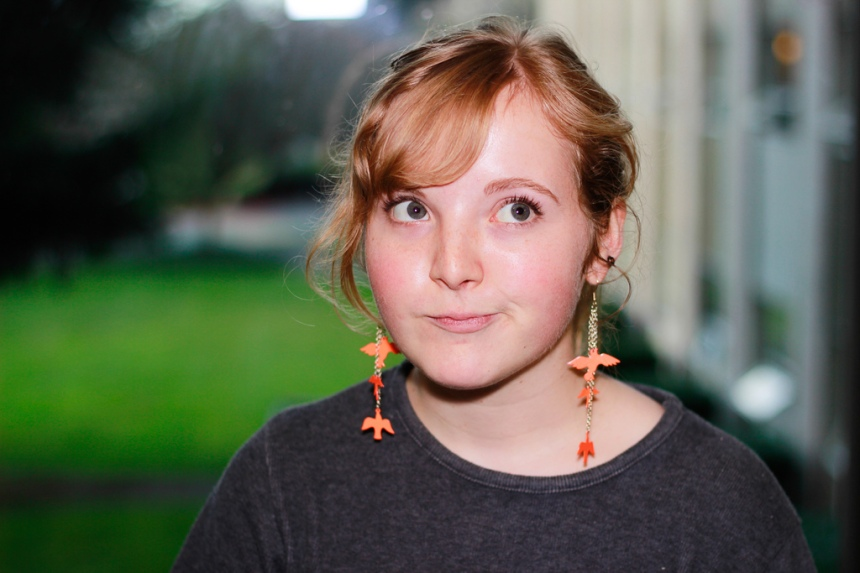 Before college, Bethany Porter was in a consignment shop where her best friend bought her beautiful earrings.